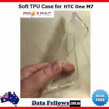 Silicone Clear Rubber Soft TPU Cover Case For HTC One M7 Premium