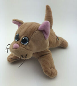 """Vintage Tonka Pound Puppies Purries Purry Kitty Cat 7"""" Brown Striped Tabby"""