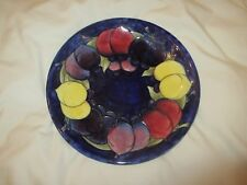 EARLY WILLIAM MOORCROFT, WISTERIA PATTERN,SHALLOW PLATE ,BLUE FLASH SIGNATURE