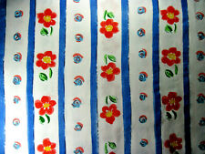 Jenny Faw Cotton Stripe Floral Fabric Bloomcraft by the yard