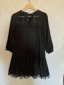 Flannel Ladies Broderie Anglais Dress Size 0