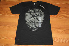 """NWT Mens AMERICAN APPAREL Black """"All Night"""" Graphic T-Shirt Size L Large"""