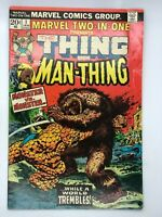 MARVEL TWO IN ONE #1 MARVEL 1974 BRONZE AGE COMIC BOOK THE THING ~THE MAN-THING