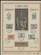 Belgium 1943 Orval Abbey set on commemorative page with first day cancel