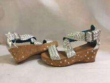 Stride Rite Jessica Simpson SERENA Sandals Wedge Girls, Silver, Size 13,