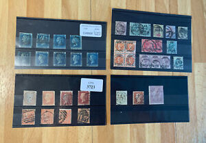 37 Old GB Stamps - Queen Victoria & King Edward VII - Used - Poor Condition