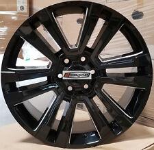 22 GMC Replica Rims Black Milled Wheels Fit Tahoe Sierra Yukon Silverado LTZ