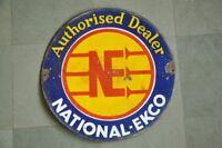 Vintage NE National EKCO Authorised Dealer Ad Porcelain Enamel Signboard