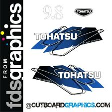 Tohatsu 9.8 4 stroke outboard engine decals/sticker kit