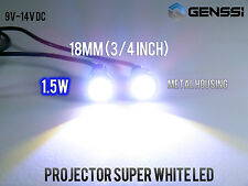 2X White Motorcycle Screw Bolt Lamp Car Universal License Plate Light SMD LED US