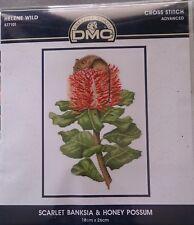 Scarlet Banksia & Honey Possum Helene Wild cross stitch 18 x 26cm 16ct Aida