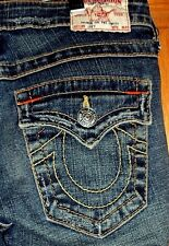 "True Religion JOEY Distressed Style 10-503 Designer Jeans Size 25 x 34"" Inseam"