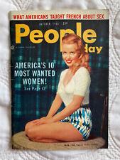 People Magazine Oct 1956 NY USA Venetia Stevenson James Dean G. Grahame Articles