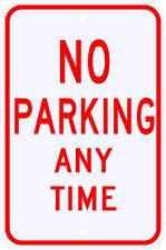 3M Reflective No Parking Anytime Sign Dot Municipal Grade 12 x 18