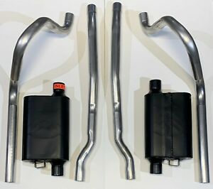 """1965 1966 Ford Mustang Dual Exhaust 2-1/4"""" w/ Flowmaster Mufflers"""