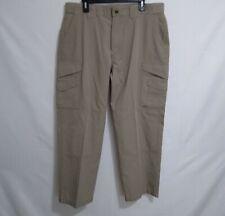 Tru Spec Mens Pants 38 X 30 Cargo Chino Beige Flat Front Polyester Blend EUC