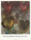 JIM DINE Flo-Master Hearts 28 x 22 Poster 1980 Pop Art Multicolor, Gray, Red, Pi