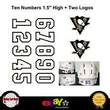 (HCW) Pittsburgh Penguins NHL Hockey Helmet Decals Set + Two Logos