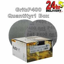 "Mirka Autonet 150mm 6"" Sanding Mesh Disc P400 1 Box Paintwork Dust Extraction"