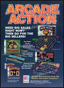 MILTON BRADLEY__Original 1982 Trade AD / ADVERT__Donkey Kong_Pac-Man_board game