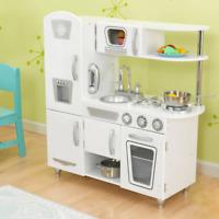 NEW KidKraft White Vintage Kitchen Kids Cooking Pretend Play Children Fun 53208