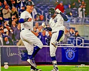 New York Yankees Aaron Judge Signed 16x20 w/ Didi Photo Fanatics + MLB Holo