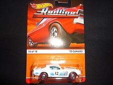 Hot Wheels Chevy Camaro 70 White Redline 1/64