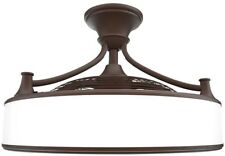 "Ceiling Fan Led Light 3 Blade Downrod Mount Indoor Outdoor Anderson 22""  Bronze"