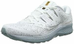 Saucony Mens Ride ISO Running Shoes - White Noise - D Width (Standard)