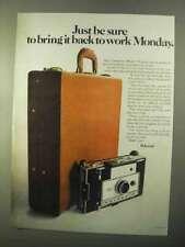 1970 Polaroid Model 350 Camera Ad - Bring Back to Work