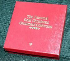 New Original Box 1987 Hummel 24K Gold Finishing Letter Santa Christmas Ornament