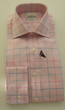 T.M.Lewin Check Double Cuff Formal Shirts for Men