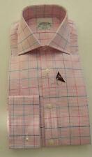 Camicie classiche da uomo regolanti rosi cotone