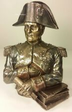 FRENCH LEADER NAPOLEON BONAPARTE BUST Statue Figurine Bookend Bronze Finish