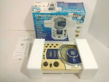 Curtis Portable Shower Cd Alarm Clock Radio Water Resistant Model Rs57A