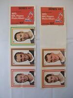 1973 NHL Players Photo Album Sheets Series Nos. 7 and 8
