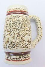1983 Avon Cowboy Beer Stein Cup Mug Cowboy Western Stage Coach Handcrafted H2