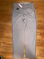 New Balance Men's 2000 Baseball Pants Gray with Blue Piping Size L