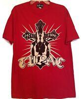 Tupac Shakur Memorial Shirt VERY RARE Red 2 Pac Tee Authentic Amaru AWA Merch
