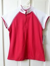 MEDIUM Women's Schwinn Pro Red White Cycling Jersey Zipper Pouches Bike Bicycle