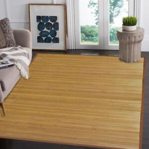 Natural Bamboo 5' X 8' Floor Mat, Bamboo Area Rug Indoor Carpet Non Skid