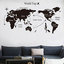 Hot Art World Trip Map Wall Sticker Removable Vinyl Quote DIY Mural Room Decor