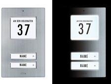 KT2 EG  Klingeltaster + Edelstahl gebürtstet + Lichtsensorgesteuert - 2 Fam.Haus