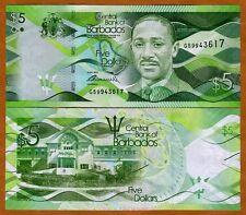 Barbados, $5, 2013, P-New, UNC > New Design