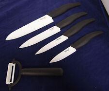 "5pcs Ceramic Knife 6"" 5"" 4"" 3"" White Blade + Peeler Set Kitchenware cutlery Chef"