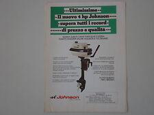 advertising Pubblicità 1971 MOTORE FUORIBORDO JOHNSON 4 HP