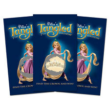 10 Tangled Movie Rapunzel Birthday Party Favor Personalized Scratch Off Games