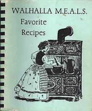 *WALHALLA SC 1986 ANDERSON-OCONEE COUNCIL ON AGING COOK BOOK *M.E.A.L.S. RECIPES