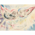 William Blake St Peter And St James With Dante And Beatrice Large Canvas Print
