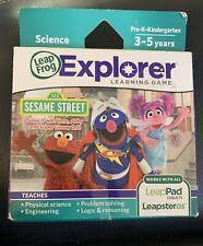LeapFrog Explorer Game Sesame Street Solve it with Elmo LeapPad LeapsterGS